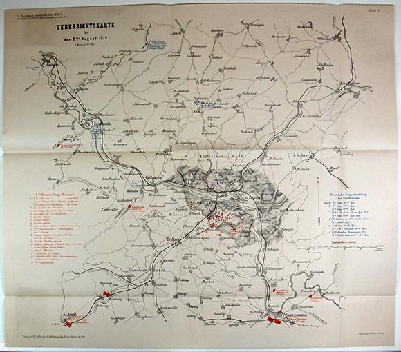普仏戦史地図五十四舗(01-315/25237)