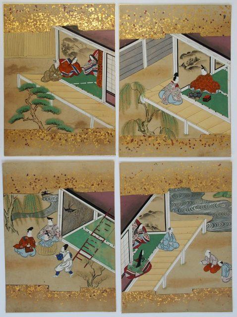 奈良絵挿絵「竹取物語」-1913b