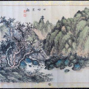 木下逸雲耶馬渓画-0688f