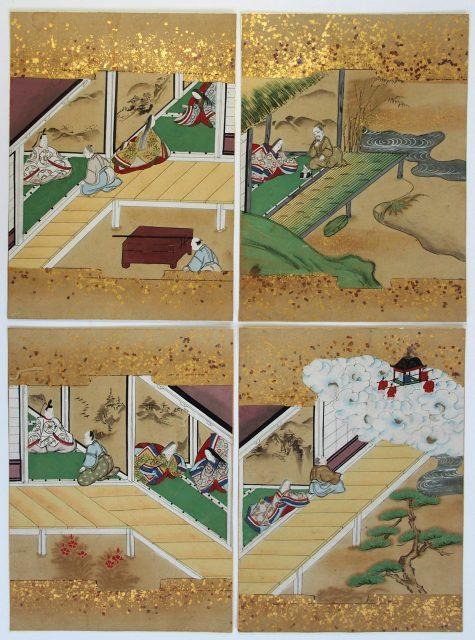 奈良絵挿絵「竹取物語」-1913a